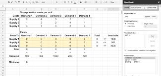 Google Spreadsheets App Opensolver For Google Sheets U2013 Opensolver For Excel