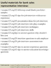 top 8 bank sales representative resume samples