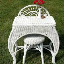 Wicker Vanity Set Vanities Rattan Vanity Bench Image For Wicker Vanity Chair