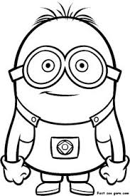 cartoon coloring despicable coloring pages free minion