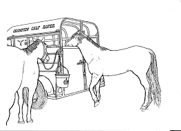 rodeo coloring pages two horse trailer color page by dancing