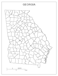 Georgia State Map by Georgia Blank Map