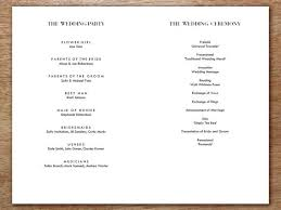 wedding program printable wedding program classic black and white e m papers