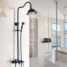 simple brass outside rubbed bronze shower faucet system