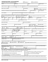 police reports template second city cop contact card vs isr exhibit b the investigatory stop report