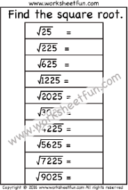square root free printable worksheets u2013 worksheetfun