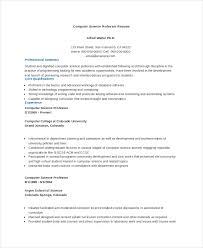 high resume summary exles resume summary exles science computer science professor resume