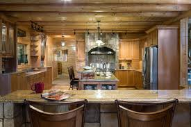 portland home interiors custom northern maine log home estate rustic kitchen