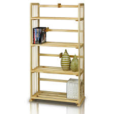 llytech inc pine natural color solid wood 4 shelf open bookcase
