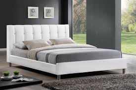 baxton studio bbt6312 white queen vino white modern bed with