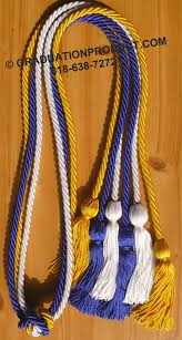 graduation cords cheap royal blue white and gold graduation honor cords 4 25