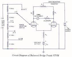 balanced bridge voltmeters electronic circuits and diagram