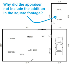 house square footage why didn t the appraiser count the addition as square footage
