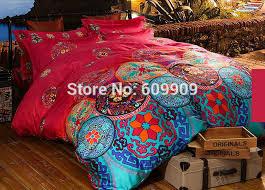 egyptian cotton boho style bedding queen bohemian bedding moroccan