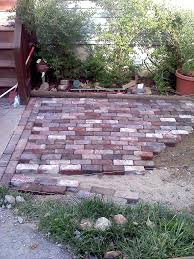 brick for patio antique brick patio done