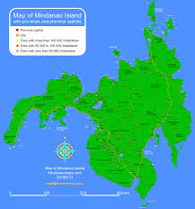 Map With Labels Mindanao Maps