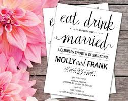 eat drink and be married invitations rustic couples shower invitation wedding shower invites