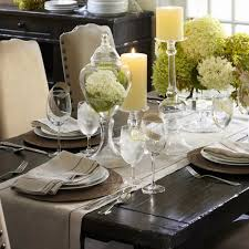 how to decorate a dinner table dining room cool pottery barn dining room tables on table decor