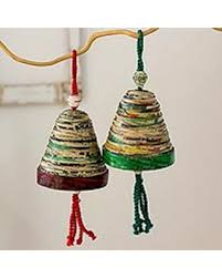 spectacular deal on recycled paper ornaments bells of and