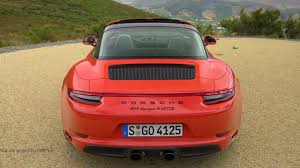 porsche 911 orange 2017 porsche 911 targa 4 gts lava orange awesome exhaust sound