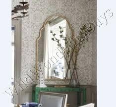 Tuscan Bathroom Vanity by Arched Wall Mirror Silver Champagne Metal Arch Tuscan Bathroom