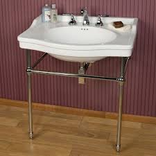 Bathroom Console Porcelain Console Sink With Brass Stand Bathroom Sinks Bathroom