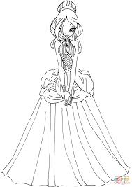 daphne in a dress coloring page free printable coloring pages
