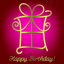 bright happy birthday card in vector format royalty free stock