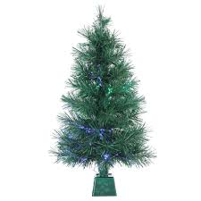 sterling 3 ft pre lit fiber optic artificial tree with