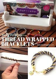 thread bead bracelet images Easy and fast way to make thread wrapped bracelets the beading jpg