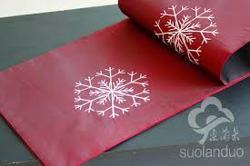 christmas table linens sale clearance sale snowflake embroidery christmas table runner table