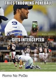 Funny Nfl Memes - tries throwing pokeball nfl memes gets intercepted 153215796 romo