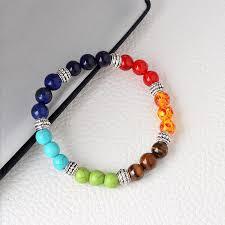 bracelet natural stones images Healing bracelet 7 chakra stones yoga energy natural stones unisex jpg