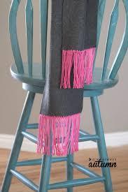 fleece and fringe no sew scarf i heart nap time