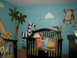 Nursery Wall Decals Animals by Tree Wall Decal With Jungle Animals Nursery Wall Decal Jungle