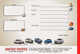 toyota company address united toyota customer satisfaction feedback form mint of