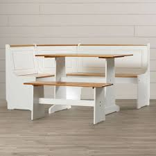 Corner Nook Kitchen Table Sets by Linon Ardmore Breakfast Corner Nook Table Set In White Ebay