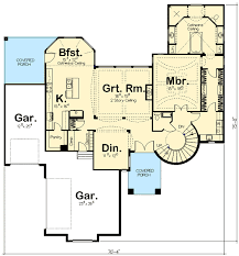 floor plans with spiral staircase spiral stair elegance 62493dj architectural designs house plans