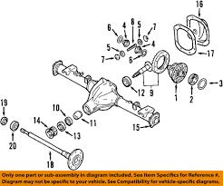 nissan titan rear axle nissan oem rear differential side bearings 38440n3111 ebay