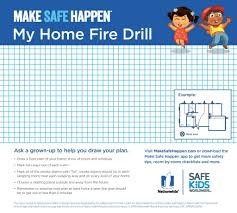 make a floor plan of your house the importance of practicing fire drills at home