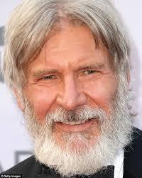 harrison ford harrison ford s shows scruffy overgrown beard at afi gala in