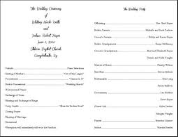 wedding ceremony program templates best photos of template of wedding ceremony sle wedding
