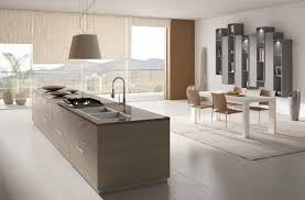 design open plan kitchen with minimalist kitchen island combine