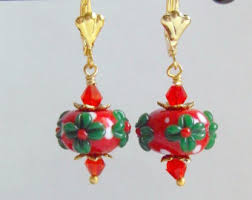 gaudy earrings christmas earrings mandybelcanto