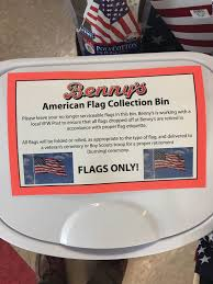 How To Dispose Of A Flag Properly Benny U0027s Offers Respectful Retirement For Worn Flags Cranston Herald