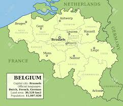 belgium language map map of belgium with administrative division into provinces and