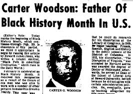 today in history negro history week now black history month was