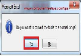 convert the table to a normal range how to convert a table to a normal range in microsoft excel 2013