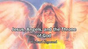 jesus angels and the throne of god in heaven richard sigmund
