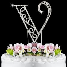 cake toppers wedding v wf monogram wedding cake toppers
